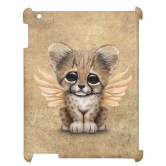 Cute Cheetah Cub with Fairy Wings iPad Cases