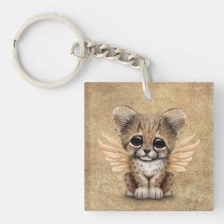 Cute Cheetah Cub with Fairy Wings Keychain