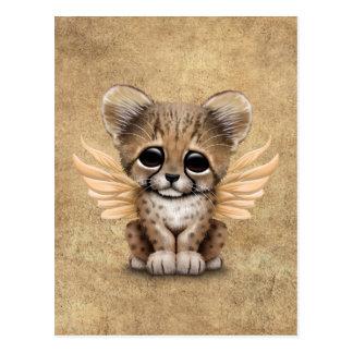 Cute Cheetah Cub with Fairy Wings Postcard