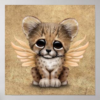 Cute Cheetah Cub with Fairy Wings Poster