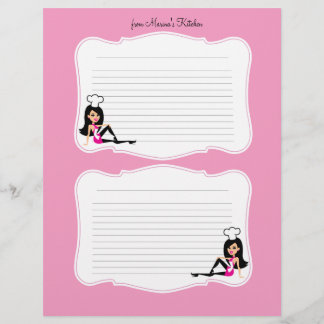 Cute Chef Art Recipe Pages for Binders #2