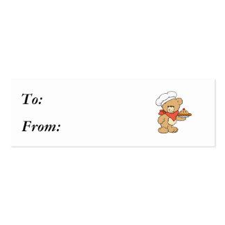 Cute Chef Baker Bear Business Card