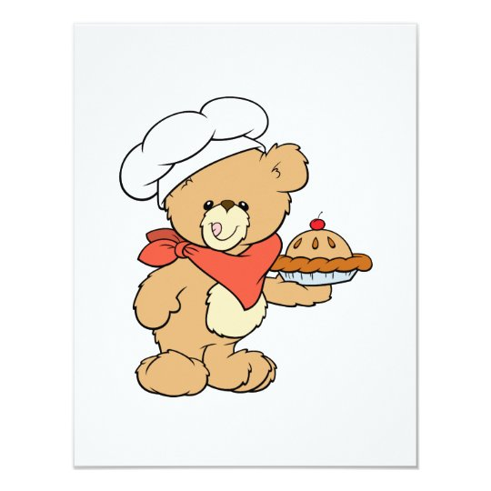 Cute Chef Baker Bear Card