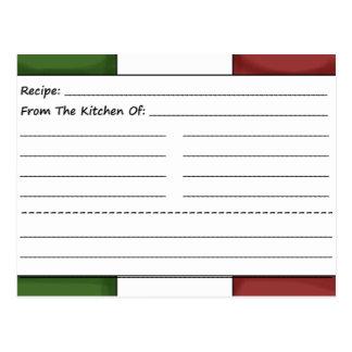 Cute Chef Blank Recipe Cards