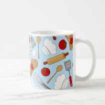Cute Chef / Cook Love Pattern Blue Coffee Mug
