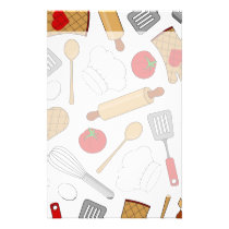 Cute Chef / Cook Love Pattern Stationery