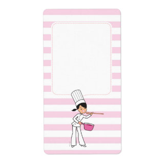 Cute Chef Motif Canning Jar Label