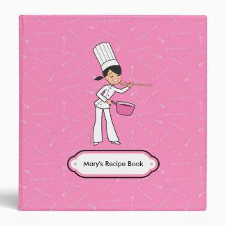 "Cute Chef Recipe Album 1.5"" Binder Organizer"