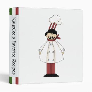 Cute Chef Recipe Album Binder