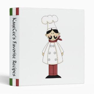Cute Chef Recipe Album Vinyl Binder