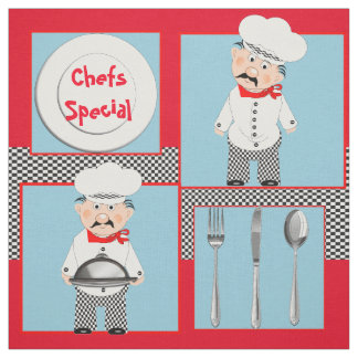 Cute Chefs Special Themed Print Fabric