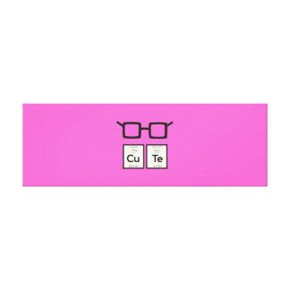 Cute chemical Element Nerd Glasses Zwp34 Canvas Print