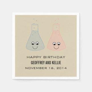 Cute Chemistry Birthday Paper Napkins