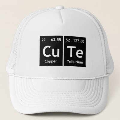 Senpai periodic table element word chemistry atoms trucker hat senpai periodic table element word chemistry atoms trucker hat zazzle urtaz Image collections
