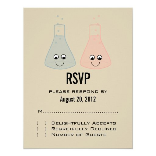 Cute Chemistry Response Card Personalized Invitation