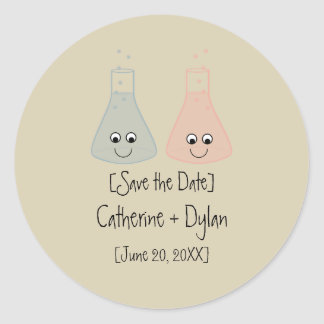 Cute Chemistry Save the Date Stickers