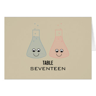 Cute Chemistry Table Number Card