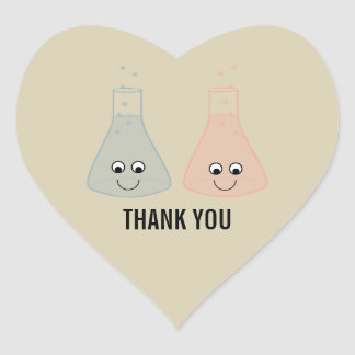 Cute Chemistry Thank You Stickers