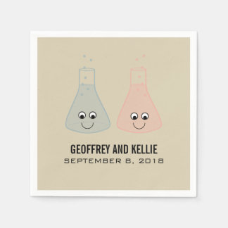 Cute Chemistry Wedding Paper Napkins
