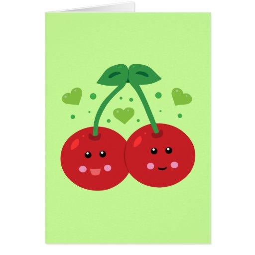Cute Cherries Card