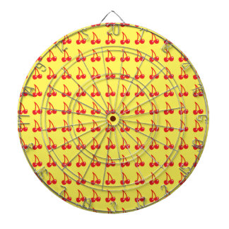 Cute cherries on yellow dartboards