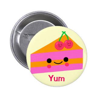 Cute cherry cream cake pinback buttons