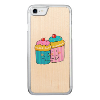 cute cherry cupcakes best friends carved iPhone 8/7 case