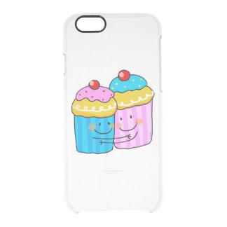 cute cherry cupcakes best friends clear iPhone 6/6S case