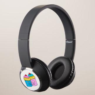 cute cherry cupcakes best friends headphones