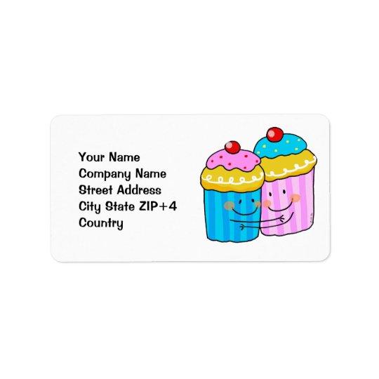 cute cherry cupcakes best friends label
