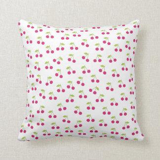 Cute cherry fruit retro pattern pillows