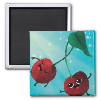Cute Cherry Pattern Refrigerator Magnet