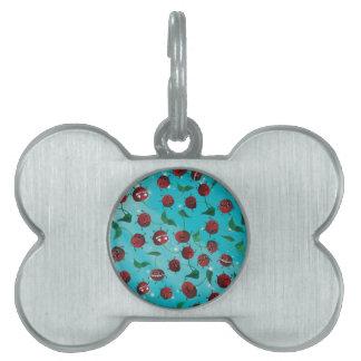 Cute Cherry Pattern Pet Tag