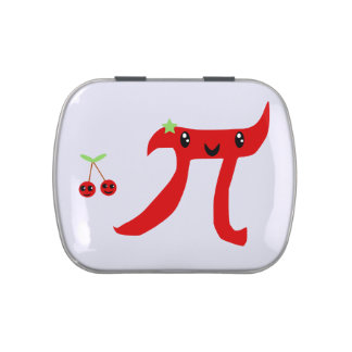 Cute Cherry Pi Jelly Belly Tin