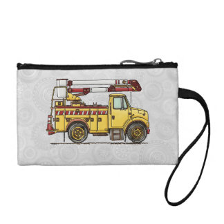 Cute Cherry Picker Truck Change Purse