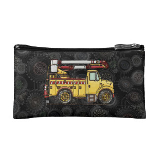 Cute Cherry Picker Truck Cosmetic Bag
