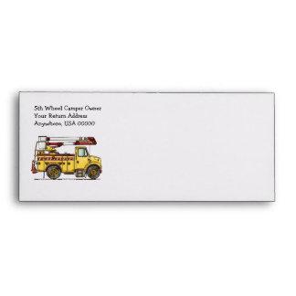 Cute Cherry Picker Truck Envelope