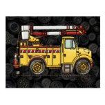 Cute Cherry Picker Truck Post Card