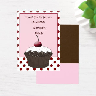 cute cherry sweet cupcake business Cards