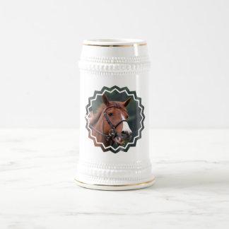 Cute Chestnut Horse Beer Stein 18 Oz Beer Stein