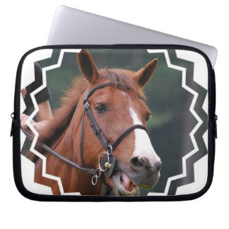 Cute Chestnut Horse Electronics Bag Laptop Computer Sleeves