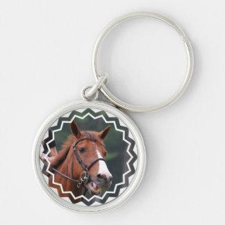 Cute Chestnut Horse Keychain