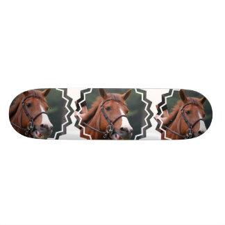 Cute Chestnut Horse Skateboard