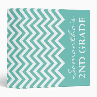 Cute chevron binder for 2nd grade school teacher