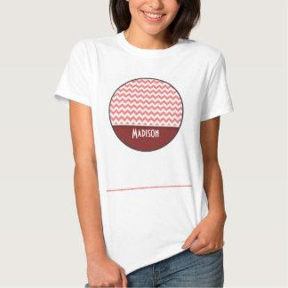 Cute Chevron; Coral T-Shirt
