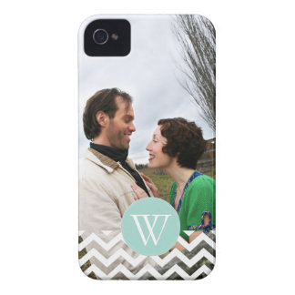 Cute Chevron & Monogram Photo Phone Case
