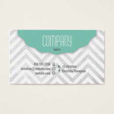 Cute Chevron Professional Business Card at Zazzle