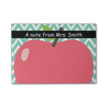 Cute Chevron Stripes Big Apple Teacher Post-it Notes