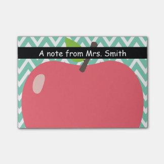 Cute Chevron Stripes Big Apple Teacher Post-it® Notes