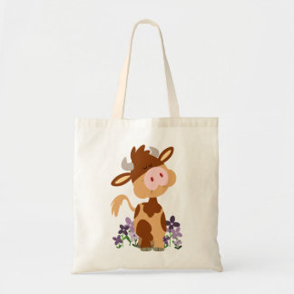 Cute Chewing Cartoon Cow Bag